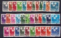 Sverige - Samling med 34 forskellige stemplede frimærker