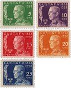 Sverige - Postfrisk sæt AFA 203-207