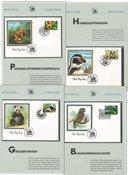 FN - Samling af førstedagskuverter med truede arter i 1 album