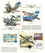Militærfly - Samling af førstedagskuverter