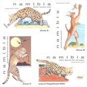 Namibia - Mindre kattedyr - Postfrisk sæt 4v