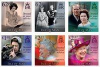Isle of Man - Dronning Elizabeths 95 års fødselsdag - Postfrisk sæt 6v