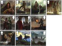 England - Kong Arthur - Postfrisk sæt 10v