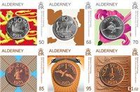 Alderney - 50-året for decimalisering af pundet - Postfrisk sæt 6v