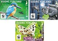 Finland - EUROPA 2021 Endangered National Wildlife - Mint set 3v