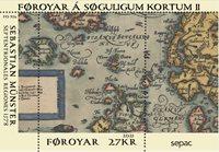 Færøerne - SEPAC 2021 Historiske landkort - Postfrisk miniark