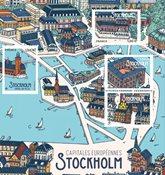 Frankrig - Stockholm - Postfrisk miniark