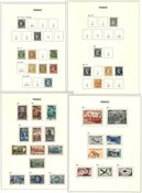 Frankrig - Samling i 2 fortryksalbum - Ca. 1860-1989