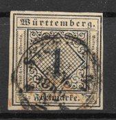 Antichi Stati 1851 - AFA 1 - Usado