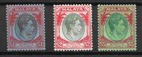 Colonie Britanniche 1938 - MICHEL 225-27 - nuovo linguellato