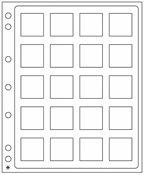 ENCAP plastic sheets for QUADRUM mini coin capsules, pack of 2