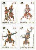 Thailand - Traditionel dans - Postfrisk sæt 4v