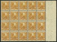 Danmark - AFA 51 postfrisk i 20-blok
