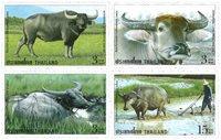 Thailand - Køer - Postfrisk sæt 4v