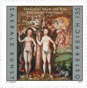 Østrig - Adam & Eva - Postfrisk frimærke