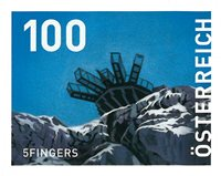 Østrig - Fem fingre - Postfrisk frimærke