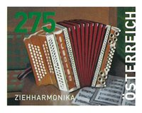Østrig - Trækharmonika - Postfrisk frimærke