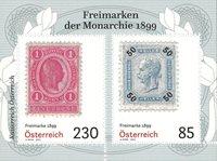 Østrig - Legendariske frimærker 1899 dagligmærker - Postfrisk miniark