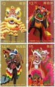 Hong Kong - Drage- og løvedans - Postfrisk sæt 4v
