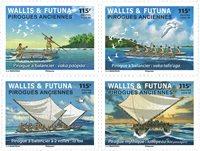 Wallis y Futuna - Piraguas antiguas - Serie 4v. nuevo