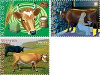 Færøerne - Kvægdrift - Postfrisk sæt 3v