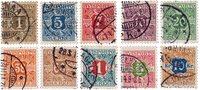 Danmark - Stemplede avisportomærker AFA 1-10