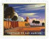 USA - Castillo de San Marcos - Postfrisk frimærke