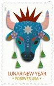 USA - Oksens år - Postfrisk frimærke
