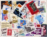 France - 100 timbres obl. différents