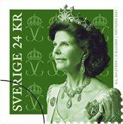 Sverige - Dronning Silvia ny farve - Postfrisk frimærke