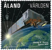 Åland - Meteorologi satelit - Postfrisk frimærke