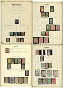 Belgium - Interesting collection in 1 pre-printed album - 1851-1936
