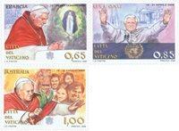 Vatikanet - Pavens rejser 2009 - Postfrisk sæt 3v