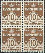 Danmark - Postfrisk 4-blok 1930