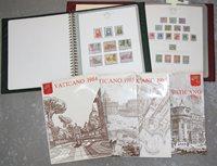 Vaticaan - Collectie in 2 voordrukalbums en jaarsets - 1929-1988