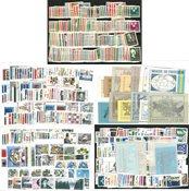 Sverige - Postfrisk samling på 10 indstikskort