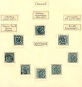 Danmark - AFA 3 - 8 pæne frimærker - Stemplet