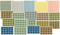 Danmark - Lokalbanemærker 19 forskellige ark