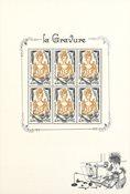 Frankrig - Den prestigefyldte gravure - Postfrisk miniark