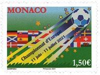 Monaco - Fodbold EM - Postfrisk frimærke
