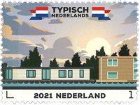 Holland - Typisk hollandsk - Husbåd - Postfrisk frimærke