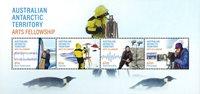 Australsk Antarktis - Kunst fællesskab - Postfrisk miniark