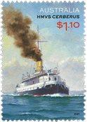 Australien - HMVS Cerberus - Postfrisk frimærke
