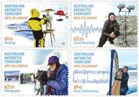 Australsk Antarktis - Kunst fællesskab - Postfrisk sæt 4v