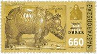 Ungarn - Næsehorn - Postfrisk frimærke