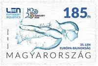 Hongrie - Championnat d'Europe de natation - Timbre neuf