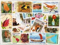 Benin - 350 forskellige - Stemplet