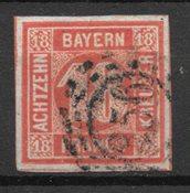 Bayern 1861 - AFA 14 - Leimattu