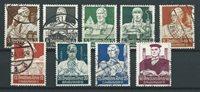 Empire allemand 1934 - AFA 549-57 - Oblitéré