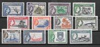 Brittiläinen imperiumi 1956 - MICHEL 59-70 - Käyttämätön liimakkeella